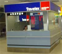 Travelex Exchange office at Prague Airport